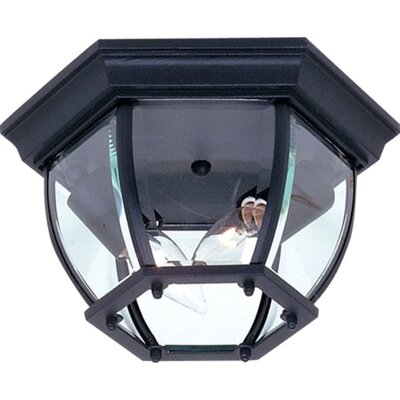 Glyndon 2-Light Flush Mount Color: Black