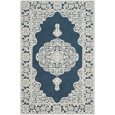 Howe Hand-Woven Blue Area Rug Rug Size: Rectangle 4 x 6