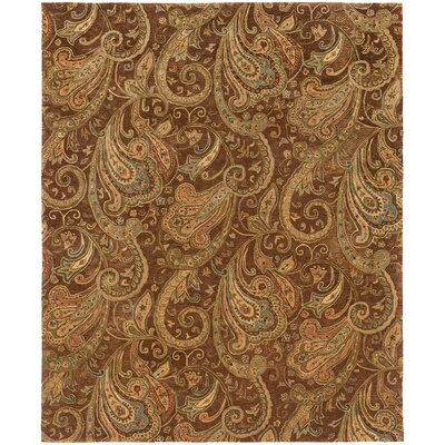 Lanesborough Hand-Tufted Brown/Gold Area Rug Rug Size: Rectangle 53 x 83