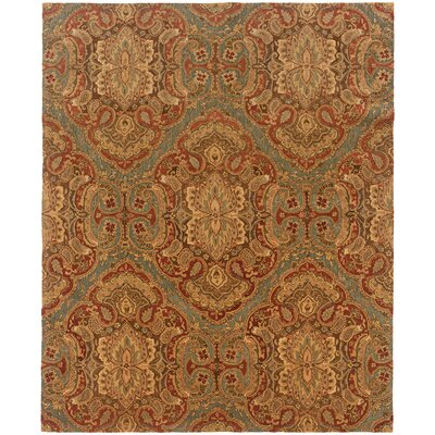 Lanesborough Hand-Tufted Blue/Grown Area Rug Rug Size: Rectangle 53 x 83