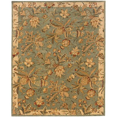 Lanesborough Hand-Tufted Blue/Beige Area Rug Rug Size: Rectangle 93 x 133