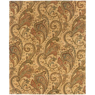 Lanesborough Hand-Tufted Beige/Gold Area Rug Rug Size: Rectangle 53 x 83