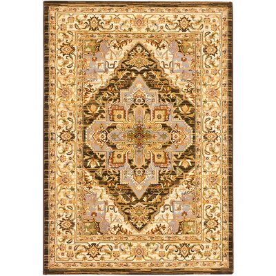 Monalisa Cream/Dark Brown Area Rug Rug Size: 710 x 112
