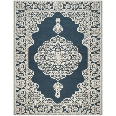 Howe Hand-Woven Blue Area Rug Rug Size: Rectangle 8 x 10