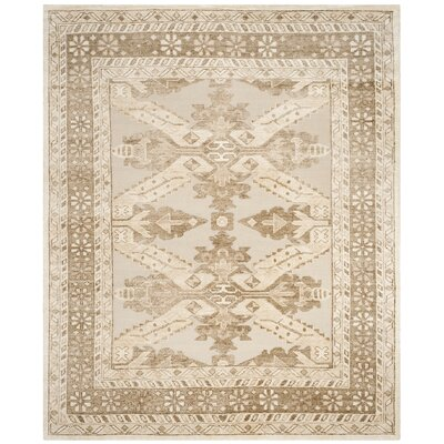 Hebert Hand-Knotted Beige Area Rug Rug Size: Rectangle 6 x 9