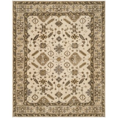 Colliers Hand-Tufted Wool Cream/Light Gray Area Rug Rug Size: Rectangle 8 x 10
