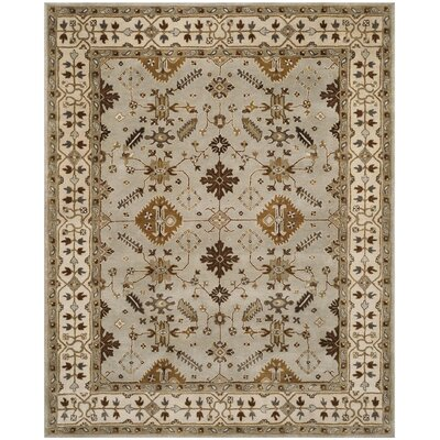 Colliers Hand-Tufted Wool Light Gray/Cream Area Rug Rug Size: Rectangle 8 x 10