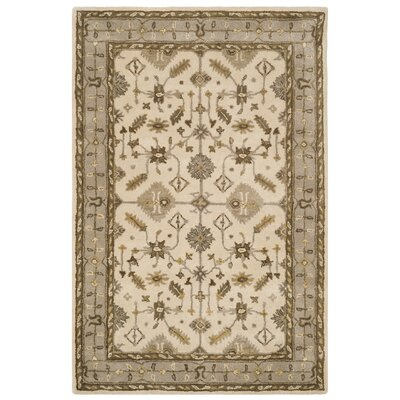 Colliers Hand-Tufted Wool Cream Area Rug Rug Size: Rectangle 4 x 6
