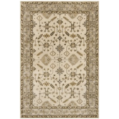 Colliers Hand-Tufted Wool Cream/Light Gray Area Rug Rug Size: Rectangle 6 x 9