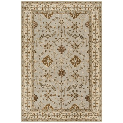 Colliers Hand-Tufted Wool Light Gray/Cream Area Rug Rug Size: Rectangle 6 x 9