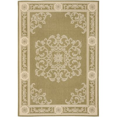 Carsen Olive/Natural Outdoor Rug Rug Size: Rectangle 710 x 11