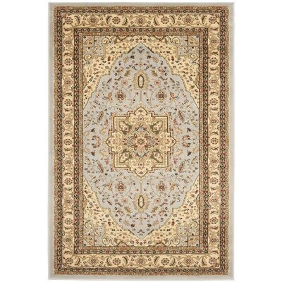 Richborough Gray/Beige Area Rug Rug Size: Round 53