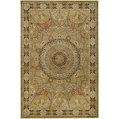 Randalholme Cream/Green/Red Area Rug Rug Size: Rectangle 5 x 76