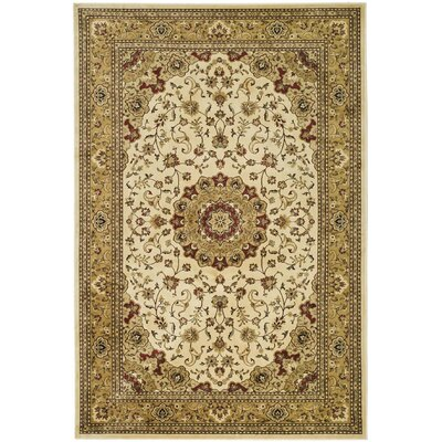Randalholme Ivory/Sage/Red Area Rug Rug Size: Rectangle 5 x 76