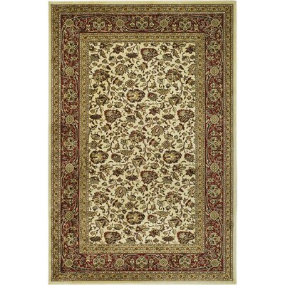 Randalholme Sage/Ivory/Red Area Rug Rug Size: Rectangle 5 x 76