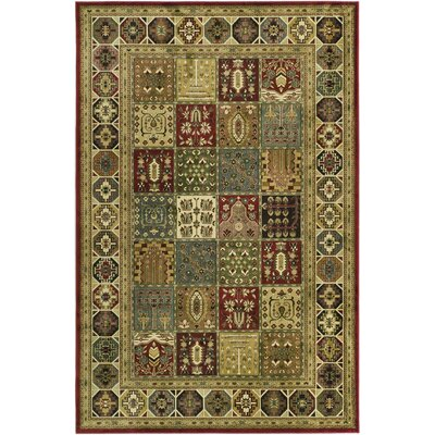 Randalholme Green/Burgundy/Cream Area Rug Rug Size: Rectangle 23 x 36
