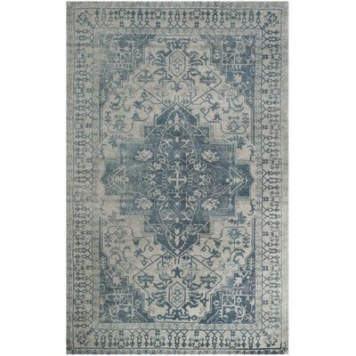 Mahoney Hand-Tufted Blue/Grey Area Rug Rug Size: Rectangle 5 x 8