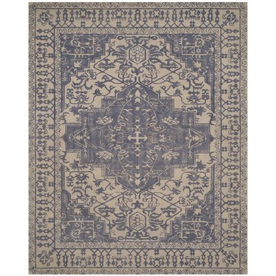 Mahoney Hand-Tufted Blue/Grey Area Rug Rug Size: Square 6 x 6