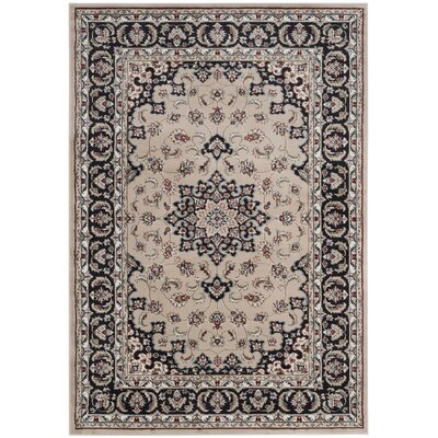 Taufner Cream/Anthracite Area Rug Rug Size: Rectangle 33 x 53
