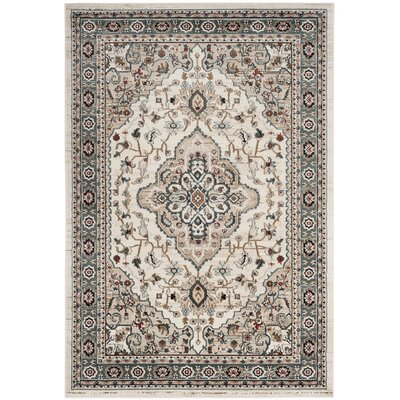 Taufner Cream/Beige Area Rug Rug Size: Rectangle 53 x 76