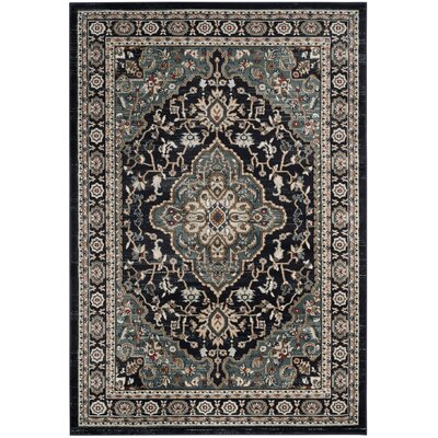 Taufner Anthracite/Teal Area Rug Rug Size: Rectangle 4 x 6