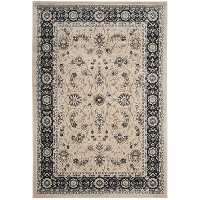 Taufner Light Beige/Anthracite Area Rug Rug Size: Rectangle 53 x 76