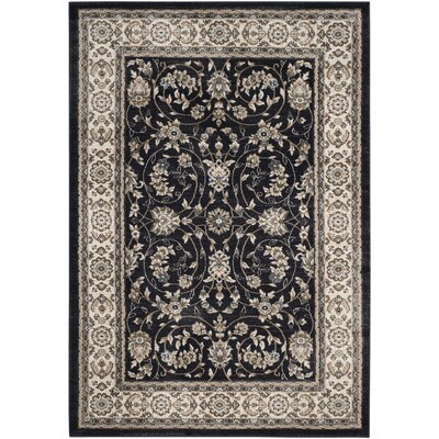Taufner Anthracite/Cream Area Rug Rug Size: Rectangle 4 x 6