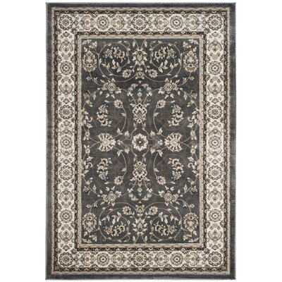 Taufner Gray/Cream Area Rug Rug Size: Rectangle 4 x 6