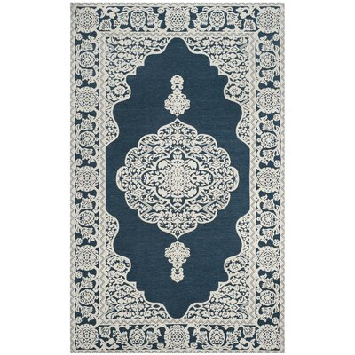Howe Hand-Woven Blue Area Rug Rug Size: Round 6