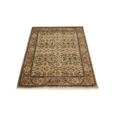 Shephard Hand-Woven Wool Cream Area Rug Rug Size: Rectangle 5 x 7