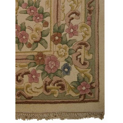 Shephard Hand-Woven Beige Area Rug Rug Size: Rectangle 64 x 97