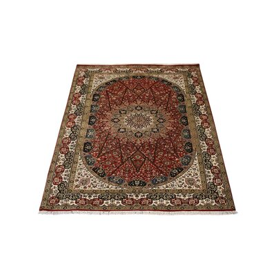 Shephard Hand-Knotted Wool Red Area Rug Rug Size: 8 x 11