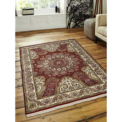 Shephard Hand-Woven Wool Red Area Rug Rug Size: Rectangle�54 x 710