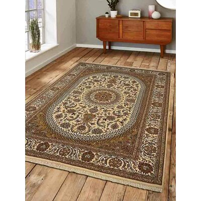 Shephard Hand-Knotted Wool Cream Area Rug Rug Size: 8 x 113