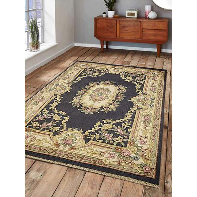 Shephard Hand-Knotted Wool Light Blue Area Rug Rug Size: 54 x 78