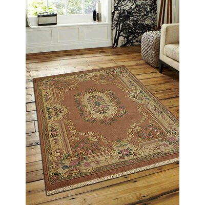 Shephard Hand-Woven Rose/Cream Area Rug Rug Size: Rectangle�3 x 5