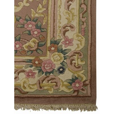 Shephard Hand-Woven Peach Area Rug Rug Size: Rectangle�5 x 8