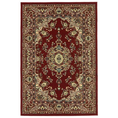 Arias Kermin Red Area Rug Rug Size: 49 x 7
