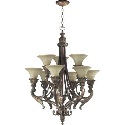 Mcfarlin 9-Light Shaded Chandelier