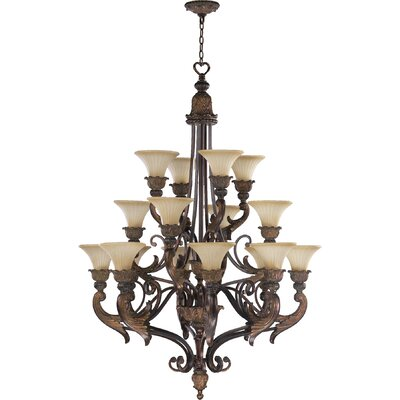 Mcfarlin 16-Light Shaded Chandelier