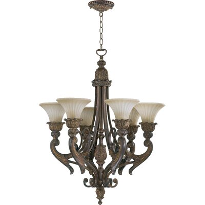 Mcfarlin 6-Light Shaded Chandelier