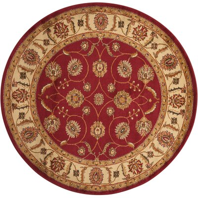 Lukeson Red Area Rug Rug Size: 53 Round