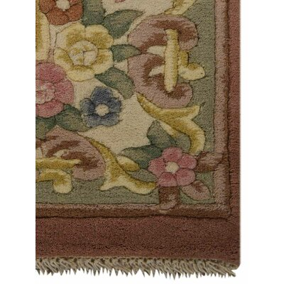 Shephard Hand-Woven Peach Area Rug Rug Size: Rectangle�4 x 6