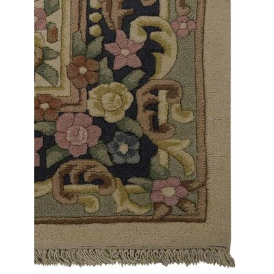 Shephard Hand-Woven Ivory/Blue Area Rug Rug Size: Rectangle�64 x 97
