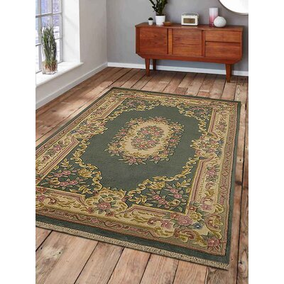 Shephard Hand-Woven Green Area Rug Rug Size: Rectangle�64 x 97