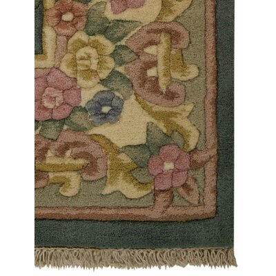 Shephard Hand-Woven Green Area Rug Rug Size: Rectangle�2 x 3