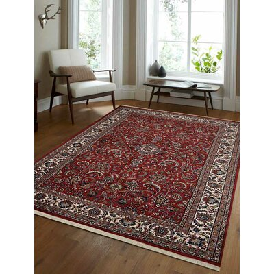 Shephard Hand-Woven Wool Red Area Rug Rug Size: Rectangle 67 x 910