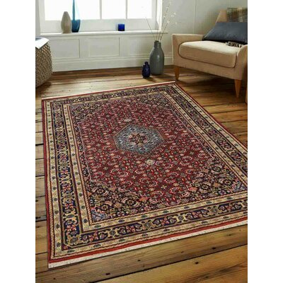 Shephard Hand-Woven Wool Red Area Rug Rug Size: Rectangle 64 x 97