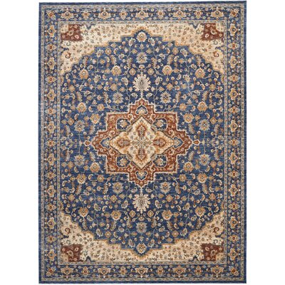 Westbrook Oriental Blue Area Rug Rug Size: Rectangle 83 x 116
