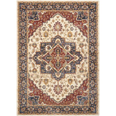 Westbrook Oriental Cream Area Rug Rug Size: Rectangle 53 x 76